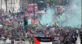الأكبر في تاريخ دعم فلسطين... تظاهرة ...