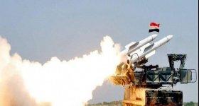 صاروخ سوري يلاحق طائرة للاحتلال ويسمع ...