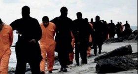"""تسجيل مصور يظهر إعدام""""داعش""""21 مسيحيا مصرياً ..."""